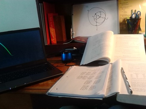 Euclid's Geometry and a Greek textbook.