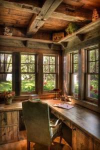 writers desk in cabin